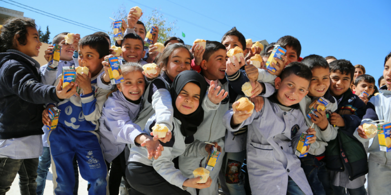 Group of students in Syria