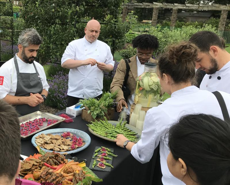 Brwa Ahmad, Executive Chef for CH&CO at Kew Gardens, connects biodiversity with Kew visitor menus