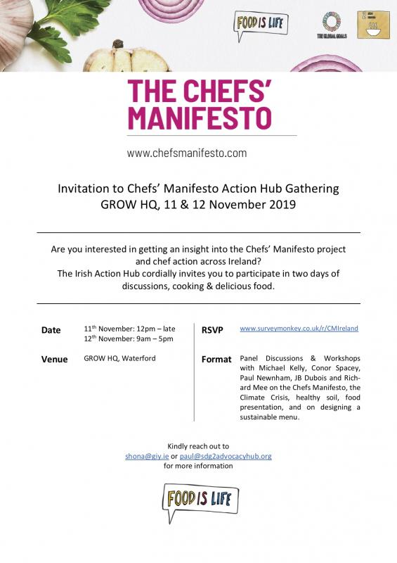 Chefs' Manifesto Action Hub Gathering, Ireland