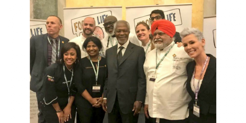 Milan Workshop Chefs and Kofi Annan